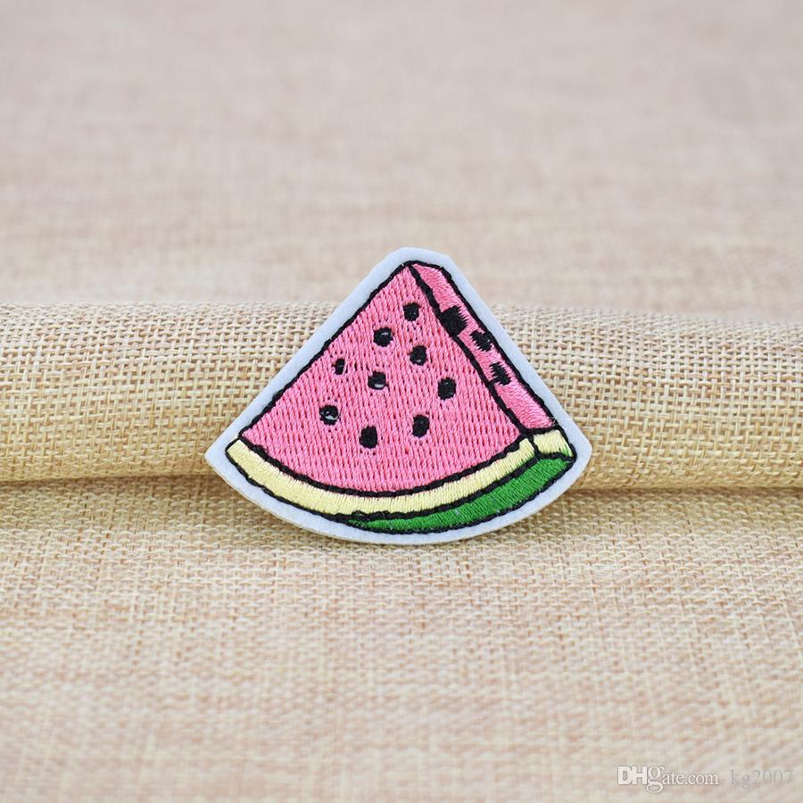Light Blue Denim Watermelon Embroidery Patch