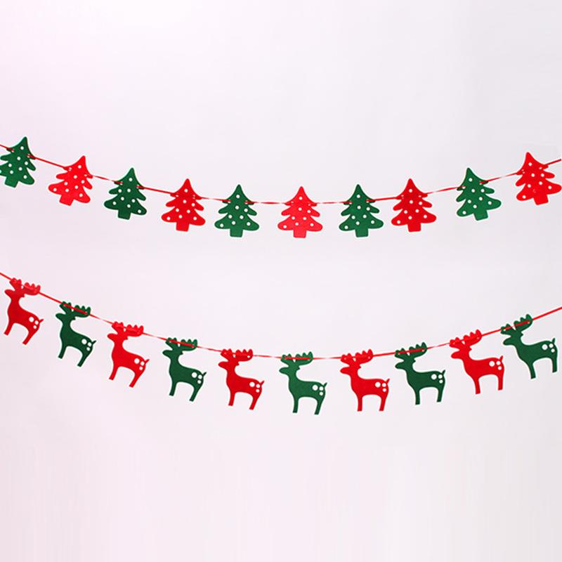 Christmas Banners Part - 47: 2018 U003d Christmas Banners 1.9 Meters Felt Christmas Elk Cloth Flags String  Flag Pull The Flag Christmas Decoration From Jdms120000, $11.06 | Dhgate.Com