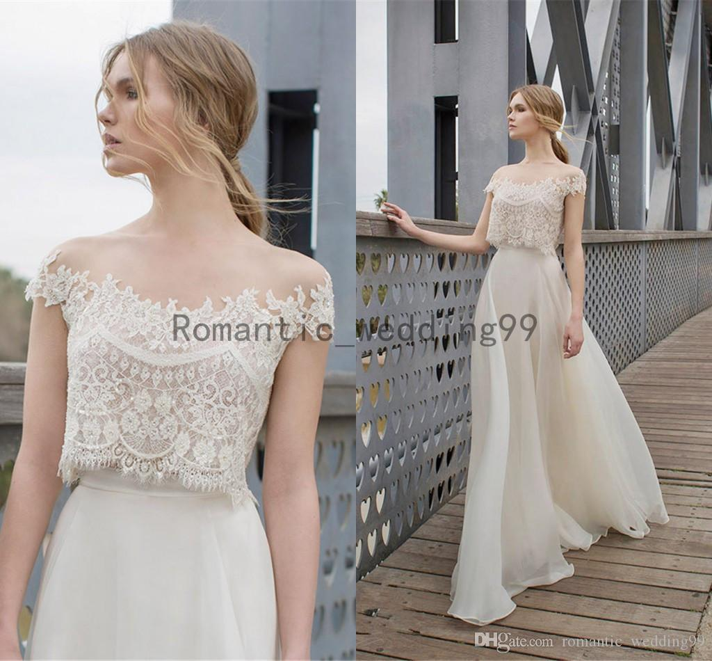 Discount Limor Rosen Bridal 2015 Diana Two Piece Wedding Dress Crop ...