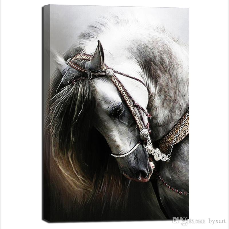 2018 Horse Wall Art, Animal Canvas Art Horse Head Wall Art Wall ...