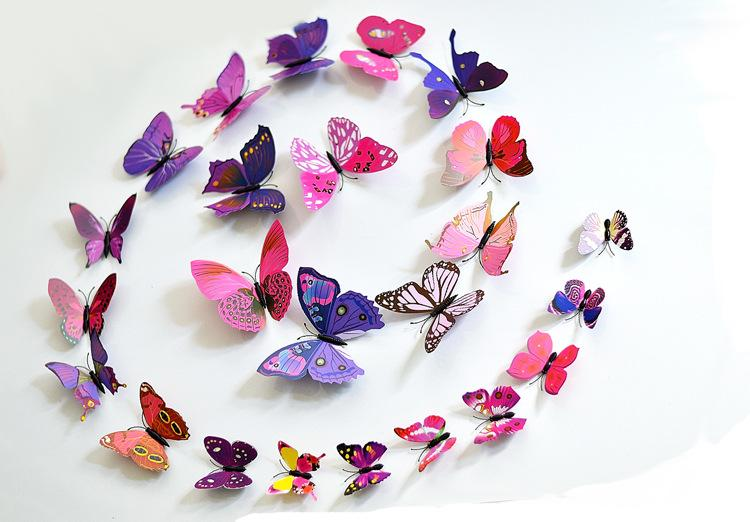 Excellent Quality D Butterfly Decoration Wall Stickers Diy D - Butterfly wall decals 3d