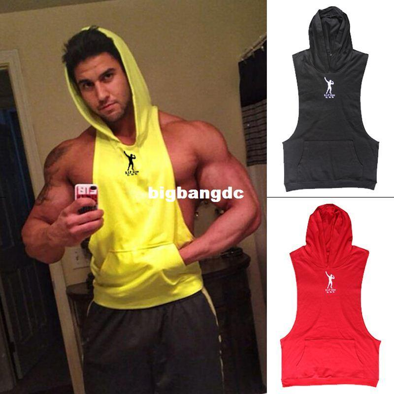 bcd78d0c8580a7 1214 Muscle Beach Stringer Hoodie Men ZYZZ GASP Clothing Sleeveless  Sweatshirts Clothes Bodybuilding Hoodies Fitness Gym Tank Tops Print T  Shirt Slogan T ...
