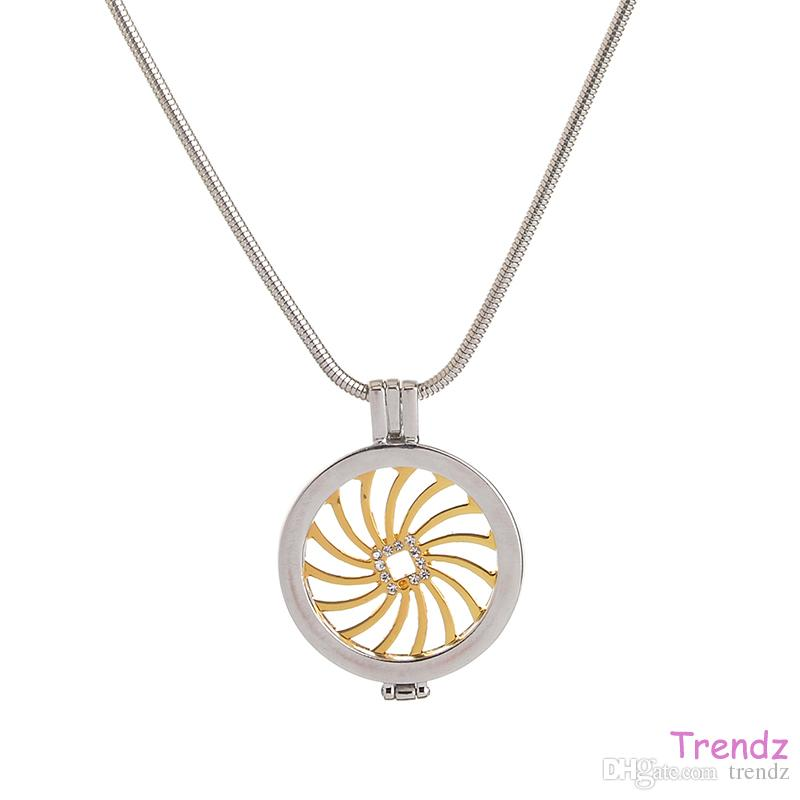 2018 mi moneda my coin holder pendant locket with white crystal mi moneda my coin holder pendant locket withg aloadofball Images
