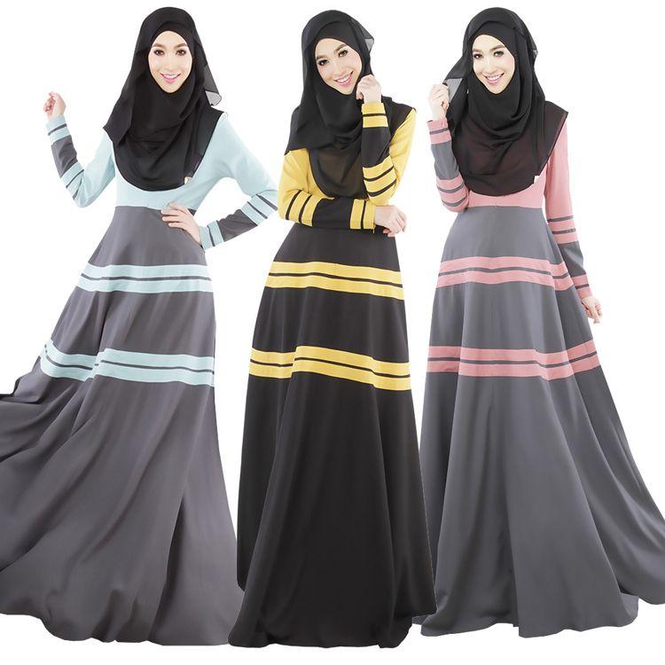 2019 2018 Muslim Long Dress Abaya Dubai Kaftan Turkish Women Clothing  Islamic Abayas And Jilbabs Clothes Robe Musulmane Hijab Vestido Longo Giyim  From ... b9af4bcd1