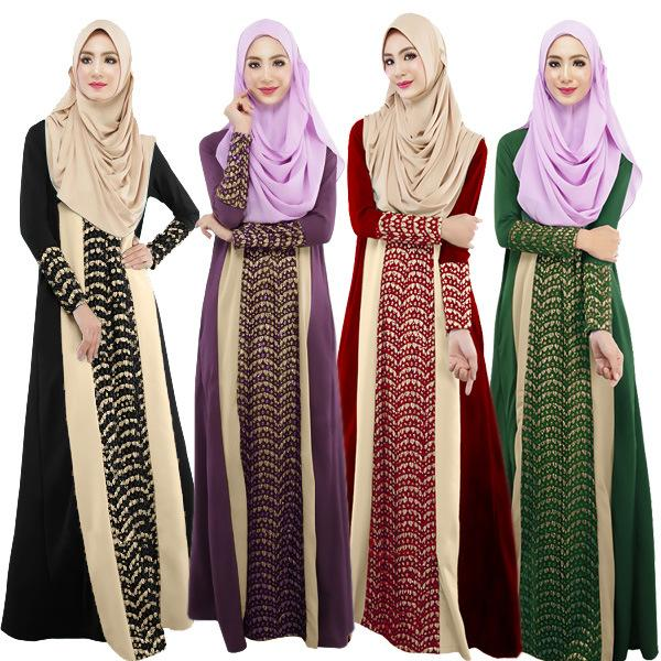 High Quality Muslim Dress Clothing Female Long Sleeve India Dress ...