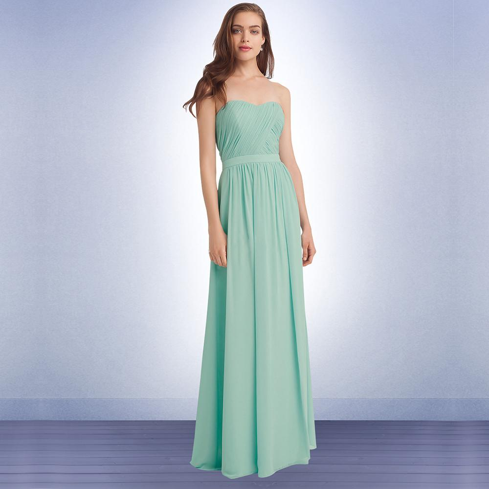 Mint green long junior bridesmaid dresses 2015 pleated ruched see larger image ombrellifo Image collections