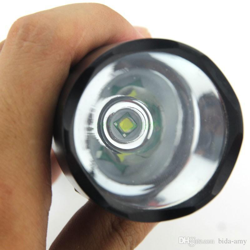 Wholesale-Super Bright C8 Cree XM-L T6 3-Mode 2000LM Camping Led  Torch Light Lamp 1*18650