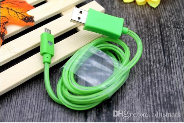 2018 Flowing USB Cable Upgrade Extra Bright Brilliant LED Light Up Charging Data Cable w/ Direction Flow Stream w/Opp Bag