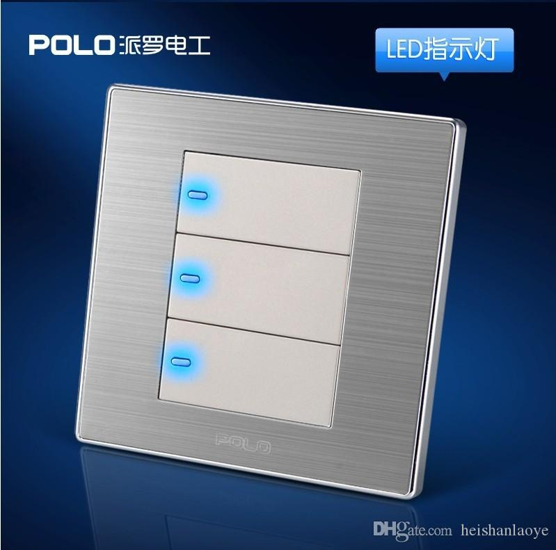 Wholesale POLO Luxury Wall Switch Panel, Light Switch,3 Gang 2 Way ...