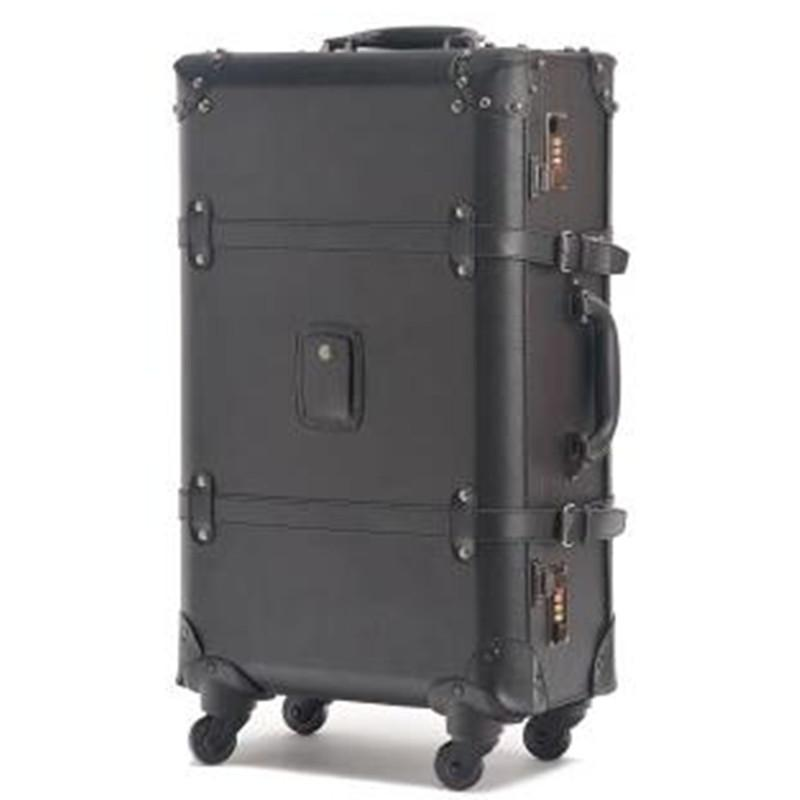 2017 New Vintage Travel Bag Universal Wheels Trolley Luggage Fashion Black Male Female Suitcase Women Sports