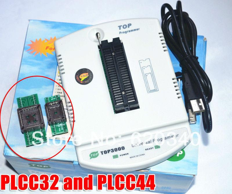 Free Shipping Best price USB universal programmer EPROM MCU PIC AVR TOP3000  Gift: PLCC32 PLCC44 Converter Free order<$18no track