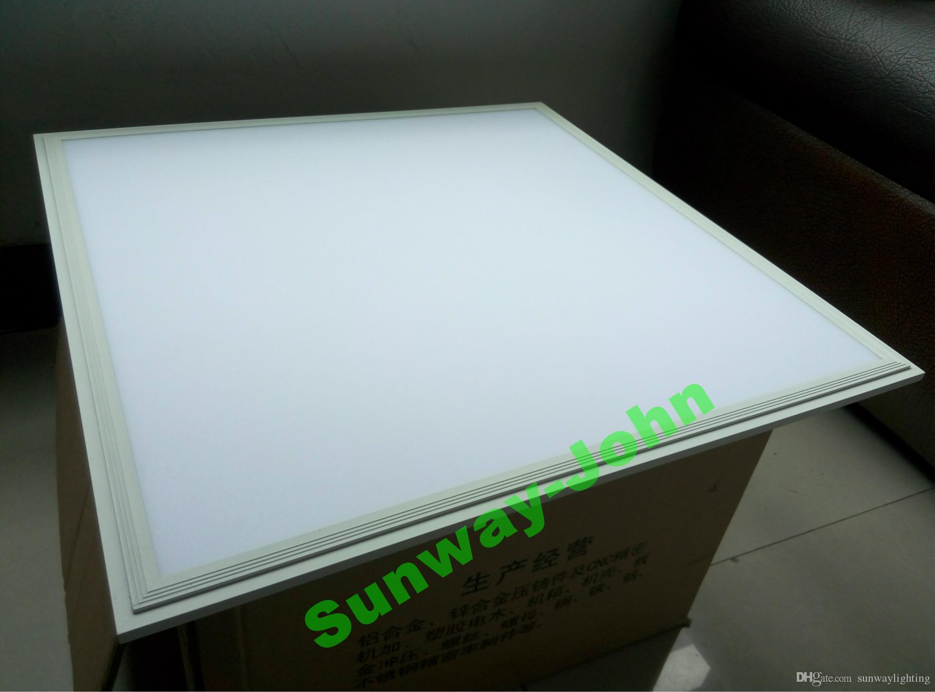 Silver White Frame LED panel light 36w 48w 72w 80w 300x1200 600x600 2x2 2x4 ft LED flat ceiling panels lights recessed lighting lamps