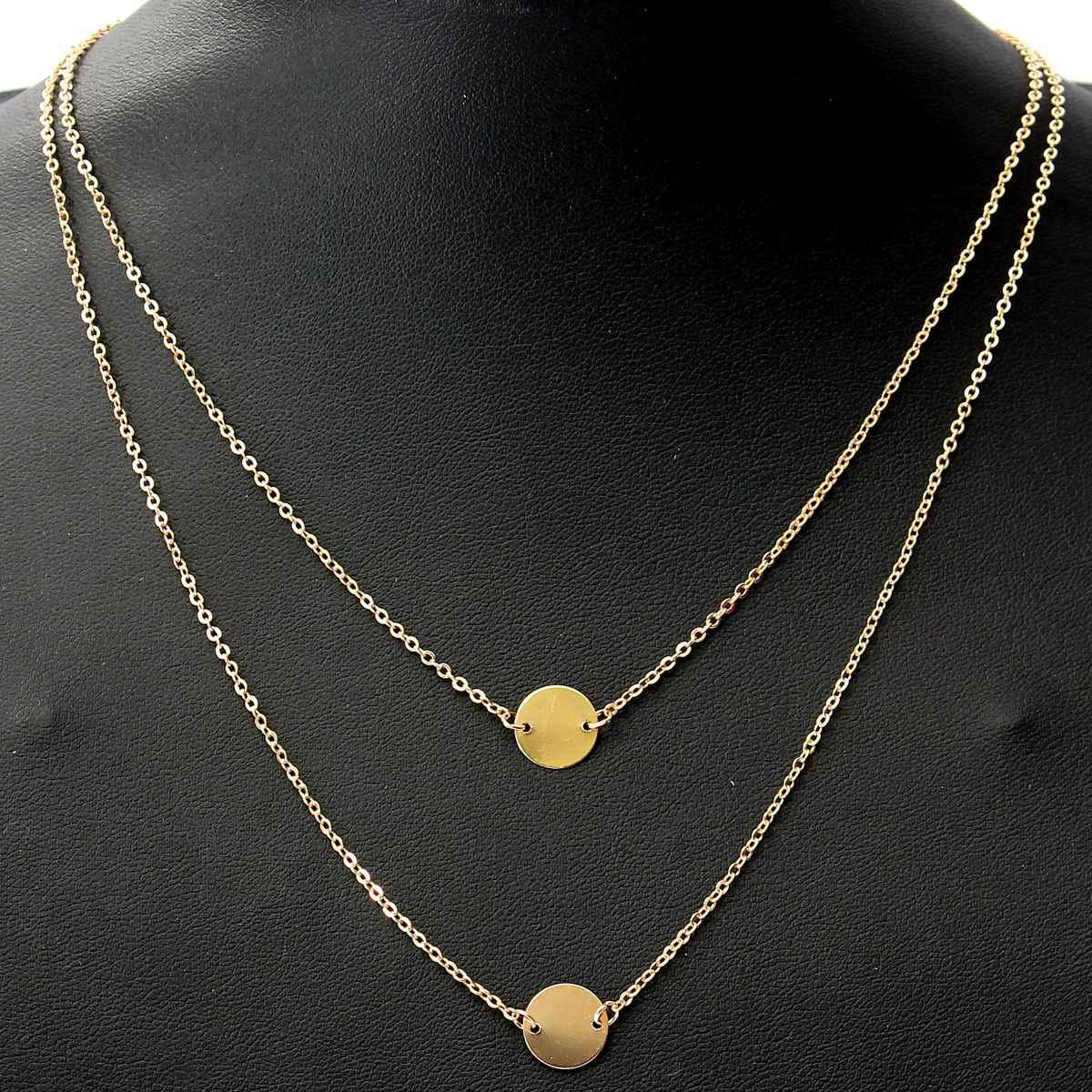 Online cheap women jewelry simple gold double chain necklace tow online cheap women jewelry simple gold double chain necklace tow little golded round pendant delicate y and v necklaces tiny necklace by zaixia166 dhgate aloadofball Image collections