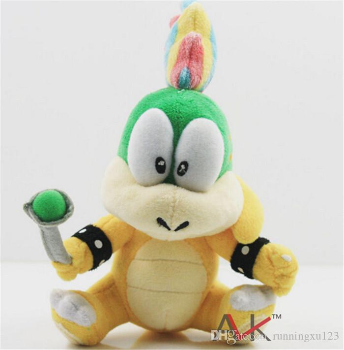 "Cartoon Super Mario plush toys Wendy/Larry/Lemmy/Ludwing/O. Koopa Plush Sanei 8"" Stuffed Figure Super Mario Game Koopalings Dolll D408"