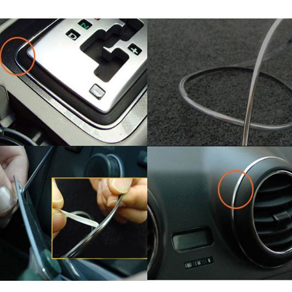 Lagergröße 120 Zoll 3 M DIY Universal Car Interior Exterior Moulding Dekoration Zierstreifen 4 Farben erhältlich bestellen $ 18no Tracking