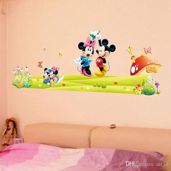 30pcs Removable PVC Large Cartoon Mickey Mouse Wall Sticker Minnie Mouse  Room Decor Wall Decal Bedroom Poster Wall Art Wallpapaer Kids Part 46