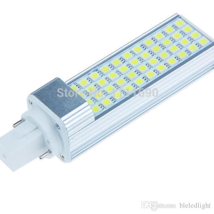 Best led pl g24 9w 44smd 5050 led plc light lamp g24 e27 for Bombilla led g24 2 pin