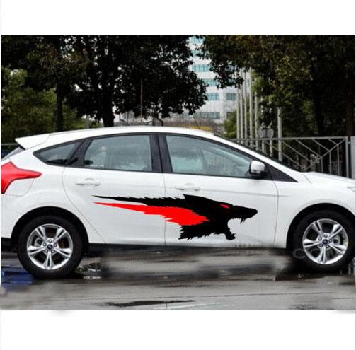 Car Decal Vinyl Graphics Side Body Stickers Animal Running - Graphics for the side of a car