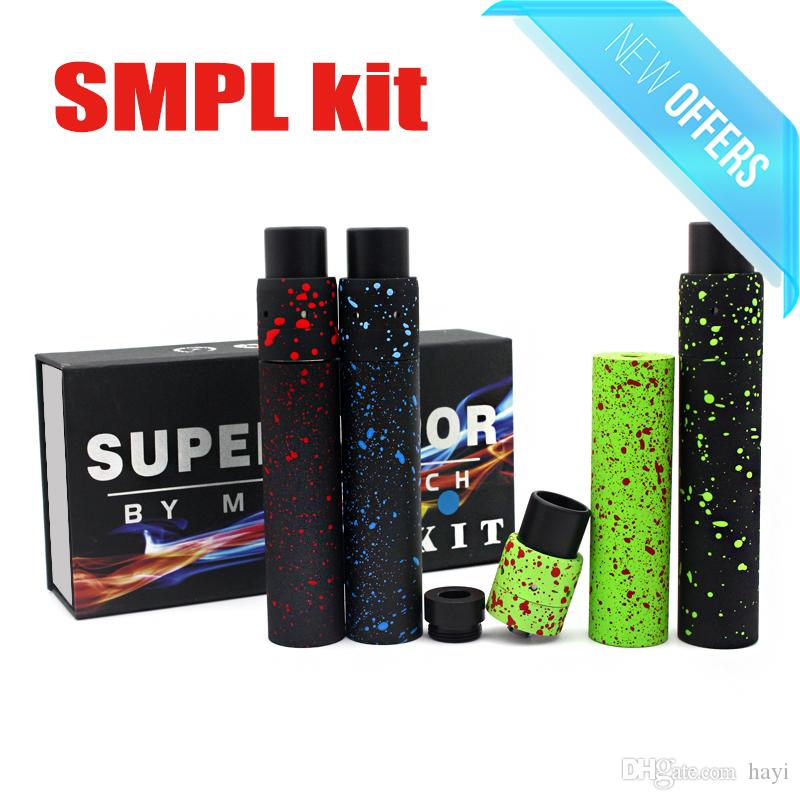 TOP Camo SMPL Mechanische MOD + MINI Geschwindigkeit RDA KIT Combo Splatter Breite Bohrung Tropfspitzen PEEK Isolatoren DHL Frei