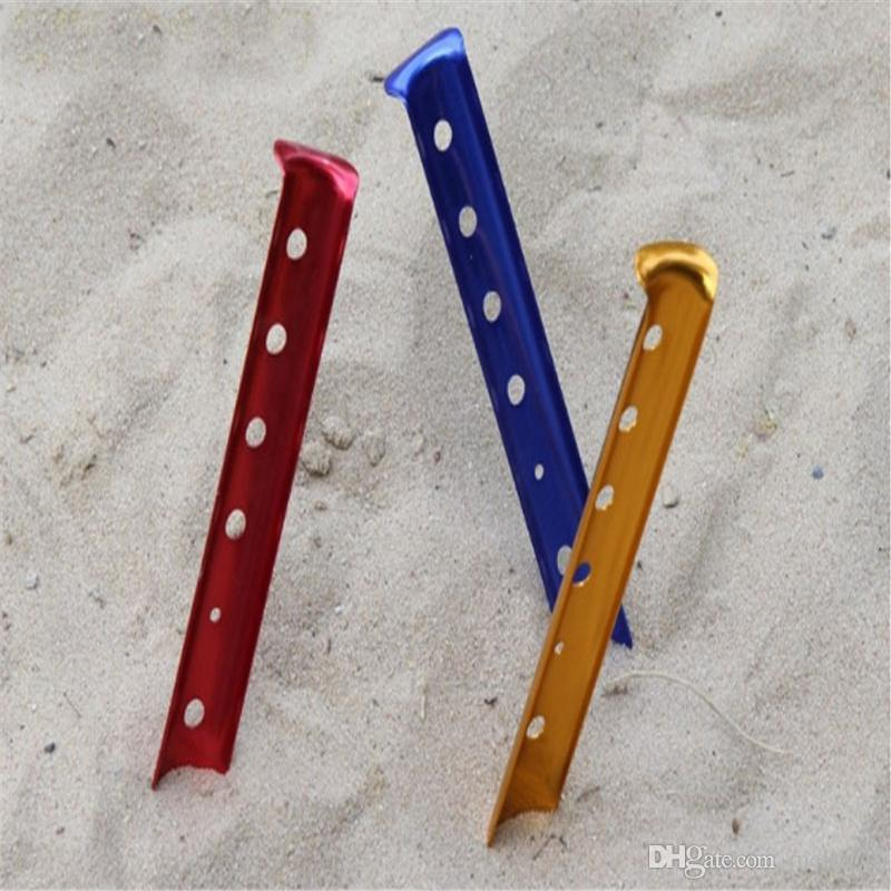 U Shape Outdoor C&ing Snow Sand Tent Nail Aluminum Tent Pegs Sand Stakes Hook Ultralight Tent Pegs Snow Building Vivitar Binoculars Binoculars Camera From ... : sand stakes for tents - memphite.com