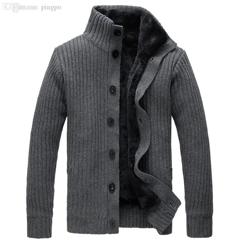 2018 Wholesale Men Cardigan Sweater Button Mens Cotton Turtleneck ...