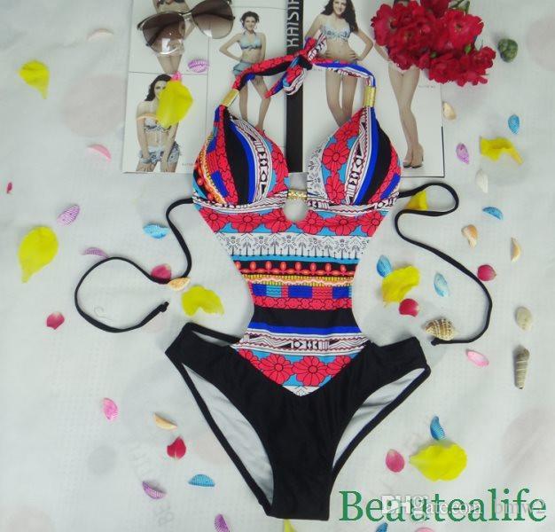 Wholesales Women Lady Backless Swimwear One Piece Swimsuit Monokini Push Up Padded Suit