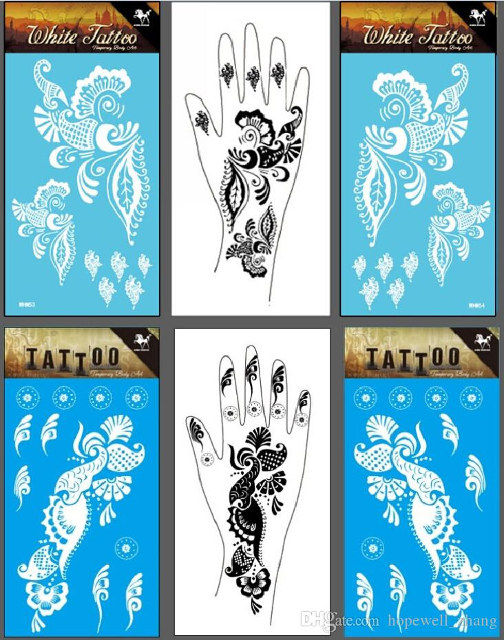 White Henna Tattoo For Hands Temporary Right Left Hand Tattoo