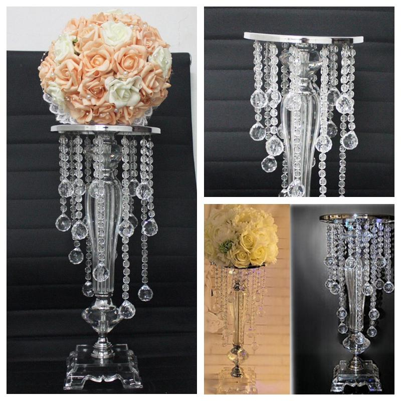 Top Selling! Crystal Flowers Stands & Plate For Wedding Birthday ...