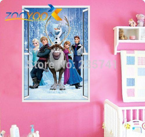 Zooyoo Original Frozen Window Wall Stickers Movie Decal Removable Wall  Sticker Home Decor Art Kids /Nursery Zy1419 Wall Sticker Mural Wall Sticker  Murals ...