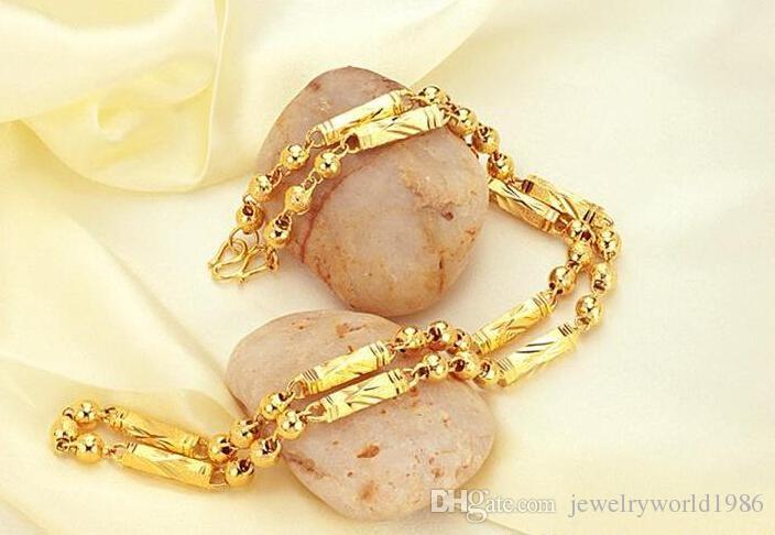 빠른 배송 무료 벌금 웨딩 보석 도매 - 24k 금 가득 목걸이 체인 길이 : 55cm, 폭 : 5mm, 무게 : 45g