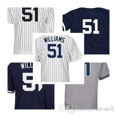 new concept ad43d e70f9 Men Women Youth 51 Bernie Williams Jerseys 2017 with Commemorative  Retirement Patch New York Cool Flex Baseball Jerseys Stitched