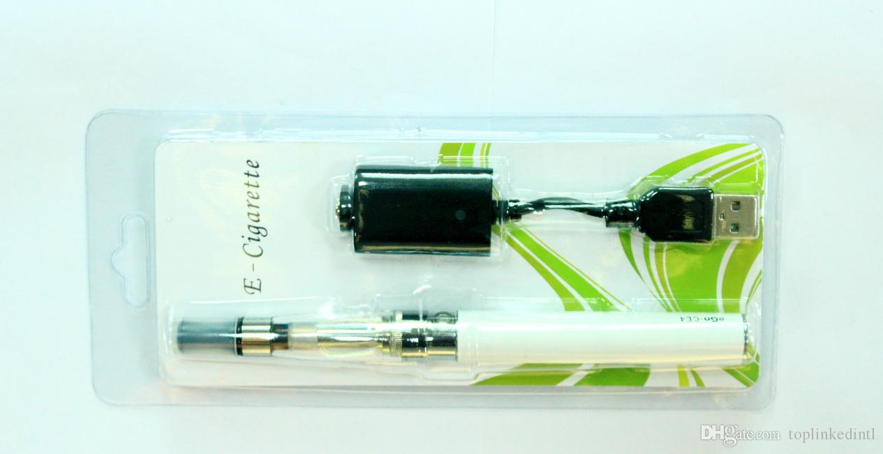 Classical Vape kits Ego-T CE4 650 mAH battery with USB cable charger single coil 1.6 ml tank