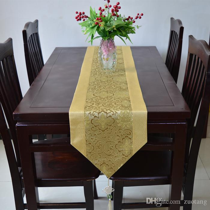 Brocade Home Decor Decoration unique chinese knot table runner cover cloth luxury silk brocade