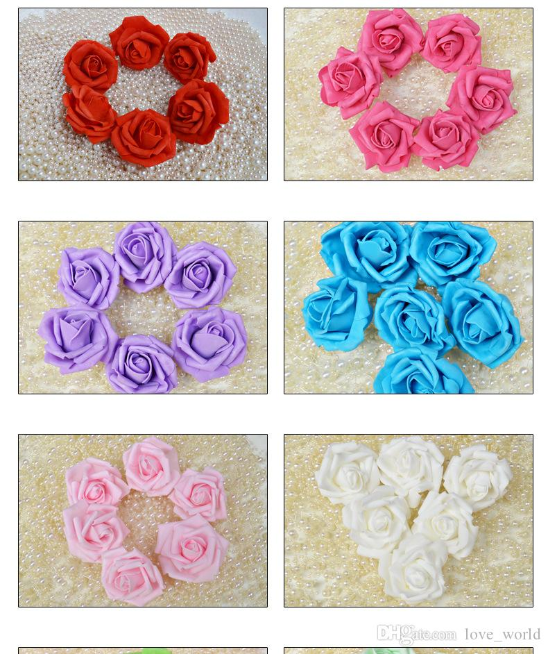 Wholesale 7CM Wedding Handmade Foam Rose rosebud Artificial Rose Flower Home Wedding Room Decoration /Bag