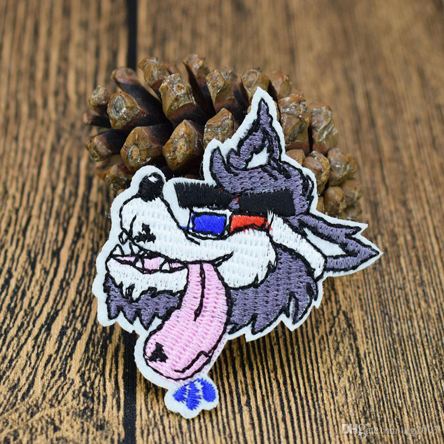 Timber Wolf Patches for Clothing Bags Iron on Transfer Applique Patch for Jeans Sew on Embroidery Patch DIY