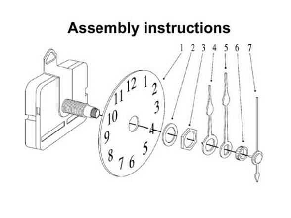 Nuovo arrivo Quality Quartz Clock Clock Movement Mechanism Parts Tool Set con silenzio a mani rosse