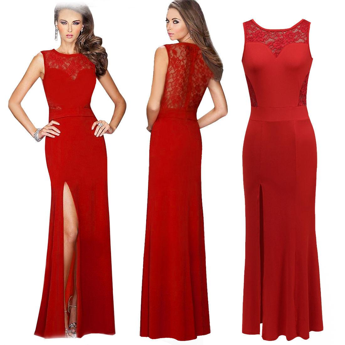 Long red dinner dresses