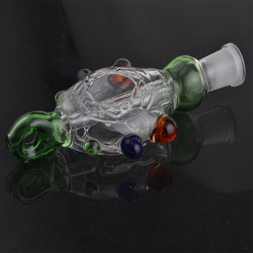 1 conjunto NC com GR2 Unha Titanium NC Kit Óleo Concentrado De Tubo de Vidro NC Recycler Bongos de Água Dabs