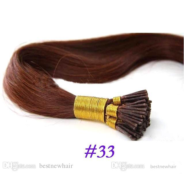 100g/pack 1g/s 16''18''20''22''24'' 100% Human Hair I Tip Hair Extensions Remy Indian Factory Price Stright Stick I Tips Hair