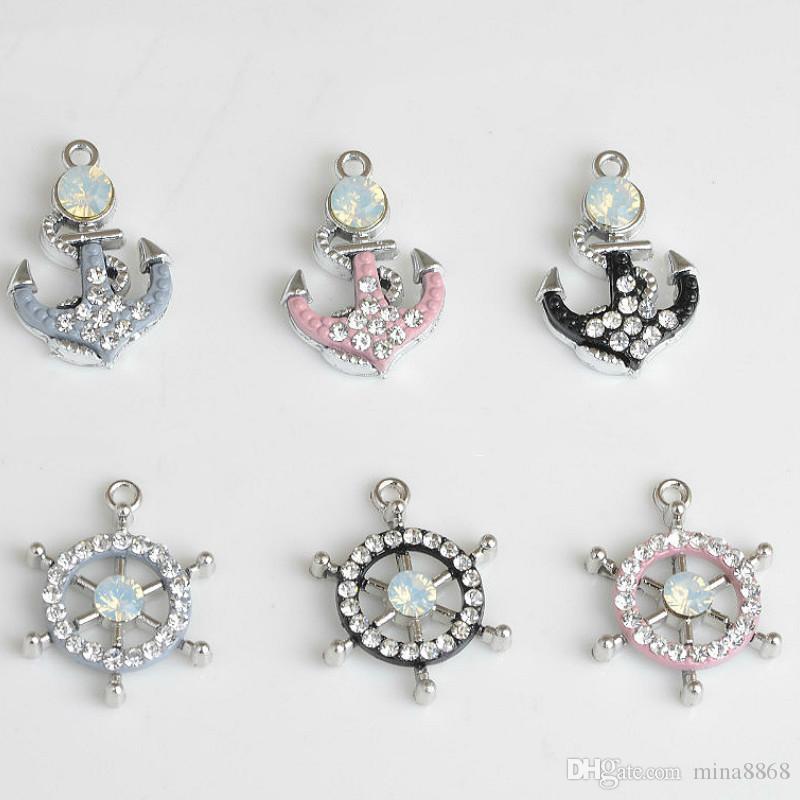 ciondoli pendenti di fascino fai da te gioielli fai da te in metallo strass charms monili che fanno accessori risultati