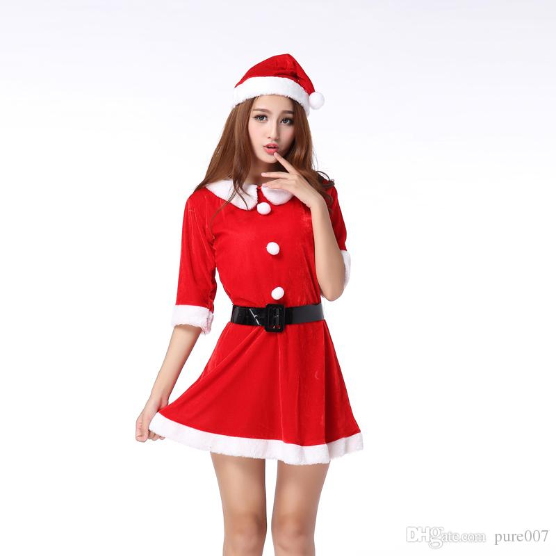 Nice Ladies Christmas Dress Sexy Christmas Dress Costume Christmas Ladies Outfit Costumes Christmas Decoration Free Dhl Dog Halloween Costumes Plus Size ...  sc 1 st  DHgate.com : christmas dress costume  - Germanpascual.Com