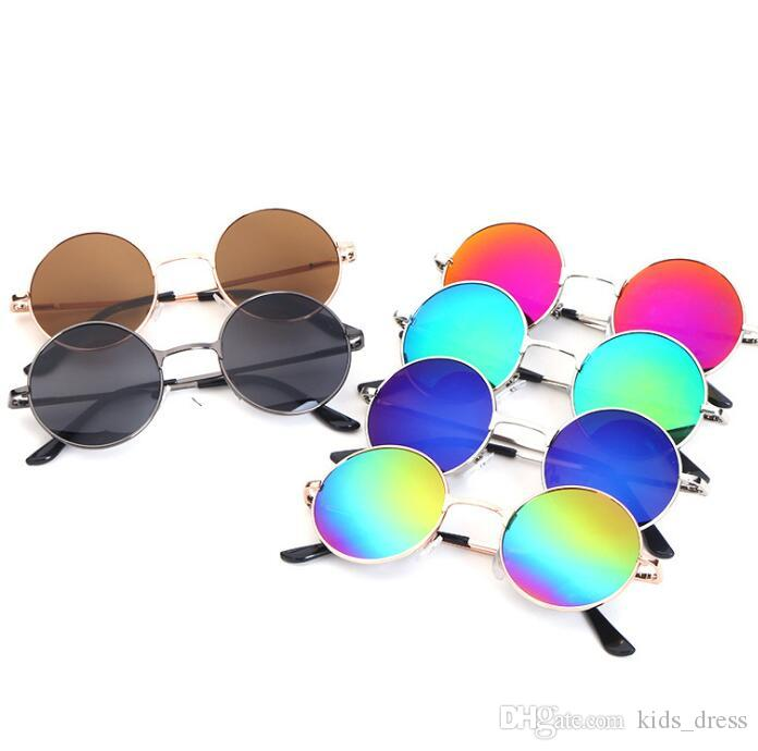 54facaeaed0c Fashion Round Boys Kids Sunglasses Brand Children Sunglasses Baby Vintage  Eyeglasses Oculos Round Eyewear Sunglasses KKA3332 Sunglasses At Night  Sunglasses ...