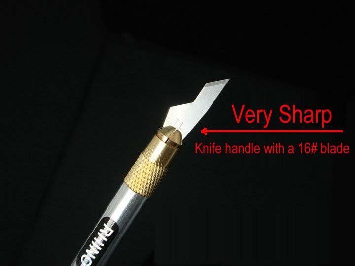 Japanese RHINO Marke 985 Full Metal Graver mit einer 16 # harten scharfen Klinge für PCB, Handy etc. Reparatur