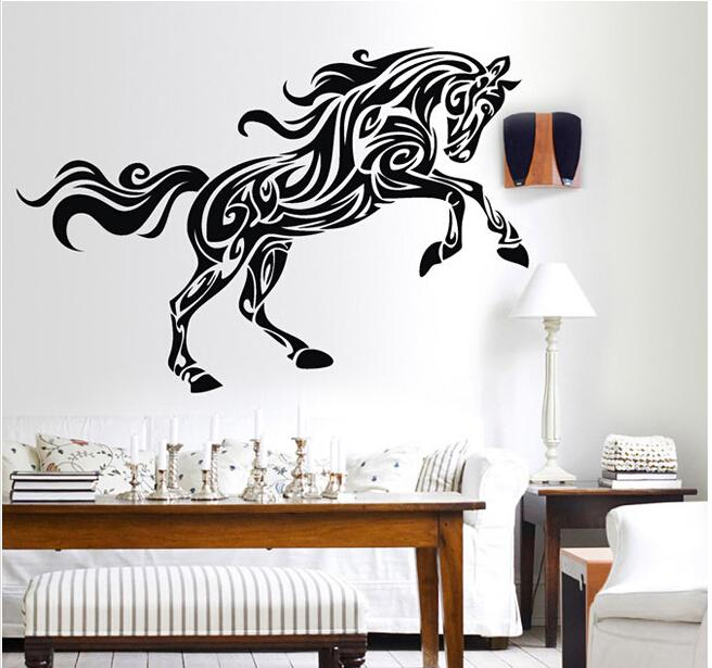 Horse Wall Sticker Decor - Animal Wall Decal Removable Decoration Mural Vinyl home Decor