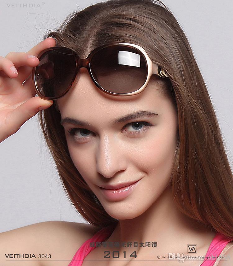 VEITHDIA ريترو TR90 خمر النظارات المستقطبة للسيدات مصمم النساء نظارات شمسية نظارات واكسسوارات أنثى gafas 2330