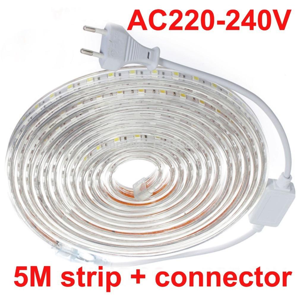 5mwaterproof daylight 220v 5050 smd 60 led flexible strip light 144 5mwaterproof daylight 220v 5050 smd 60 led flexible strip light 144wm warm whitecool white60ledsm waterproof 220v led strip led strip 220v waterproof aloadofball Images
