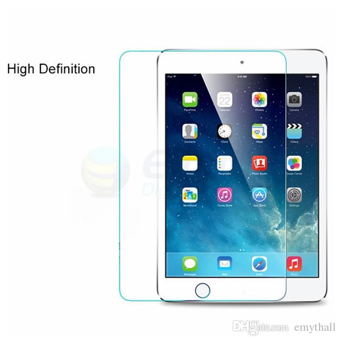 For iPad Mini 4 NEW iPad Pro 9.7inch Screen Protector Shatterproof Anti-Scratch HD Clear Mini 2/3 iPad Air Tempered Glass with retail box