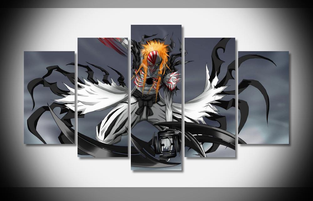 Anime Wall Art 2546 hollow ichigo bleach anime poster home deco gallery wrap