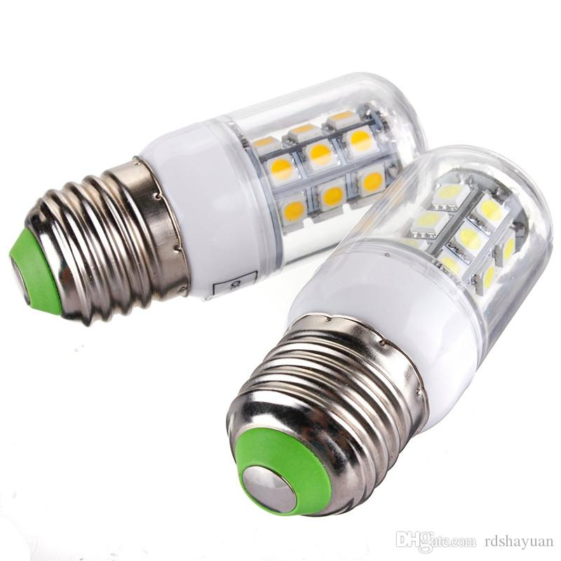 LED Corn Bulb Lamp E27 3W 27 LED 5050 SMD Energy Saving Corn Light Pure Warm White Lamp Spotlight Bulb Pendant Lighting