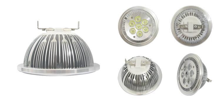 G53 AR111 Bombillas 7W LED Spot Light AC 110V 220V DC 12V Lampe 7leds Lighting Spotlight Bulb 700LM Warm white Cold white Dropshipping 7x1W
